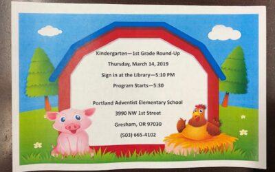 Kindergarten/1st Round Up